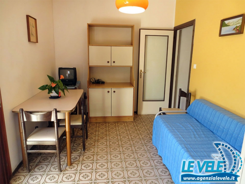 ANTARES: Two rooms apartment with seaview balcony for rent in LIdi Ferraresi